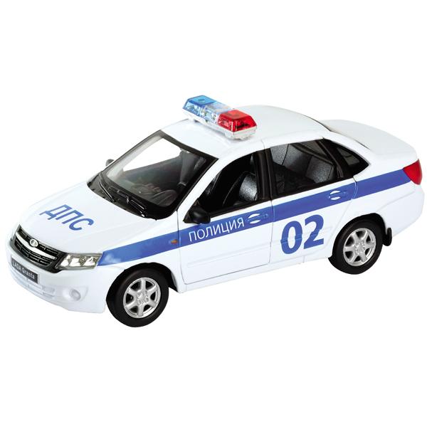 Купить Welly 43657PB модель машины 1:34-39 LADA Granta ПОЛИЦИЯ, Машинка Welly