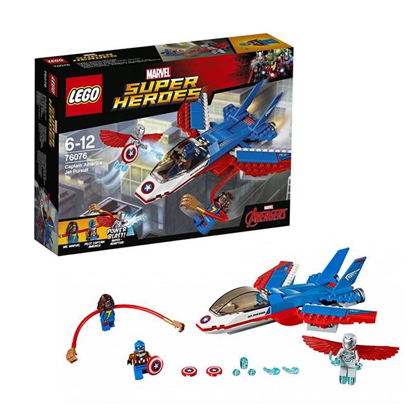Купить Lego Super Heroes 76076 Лего Супер Герои Воздушная погоня Капитана Америка, Конструктор LEGO