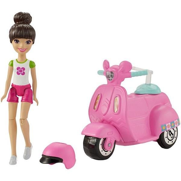 Купить Mattel Barbie FHV80 Барби Кукла В движении Скутер и кукла, Куклы и пупсы Mattel Barbie