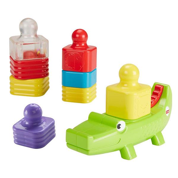 Купить Mattel Fisher-Price DRG34 Игрушка-пирамидка Веселый крокодил , Развивающие игрушки для малышей Mattel Fisher-Price