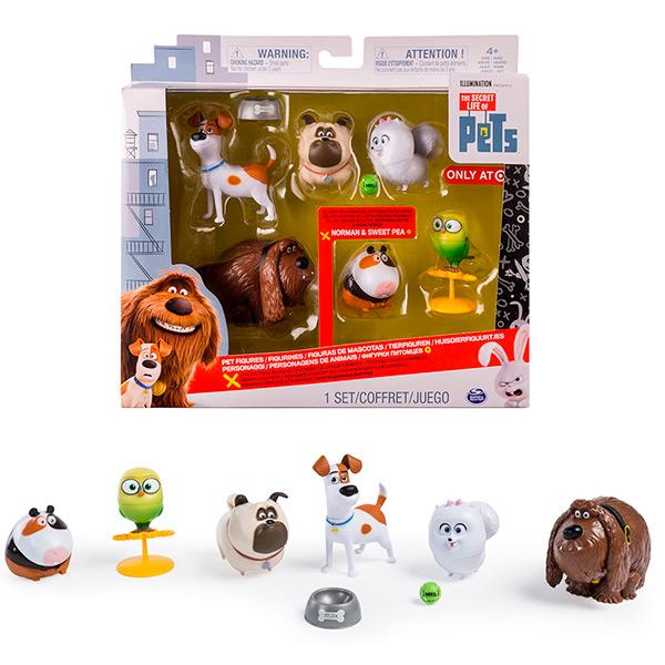 Secret Life of Pets 72812 Тайная жизнь домашних животных Набор из 6 фигурок героев