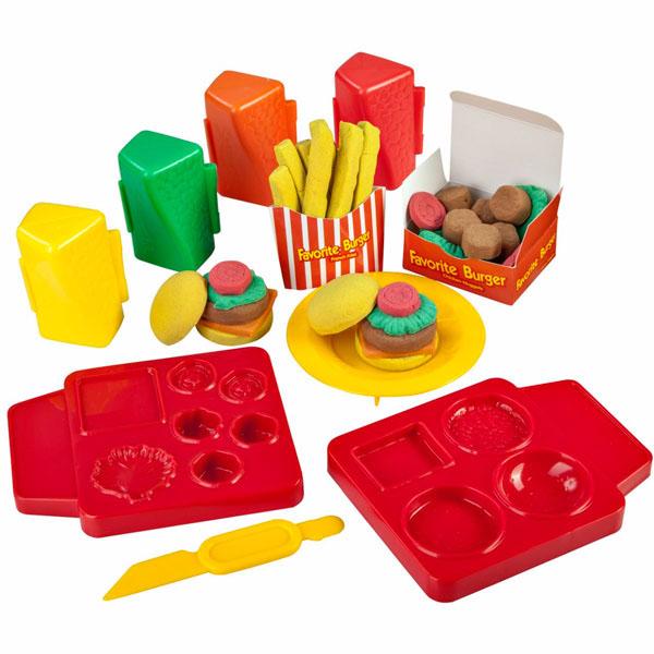 Купить Skwooshi S30101 Сквуши Набор для творчества Бургер / Мороженое Делюкс-масса для лепки, Набор для творчества Skwooshi