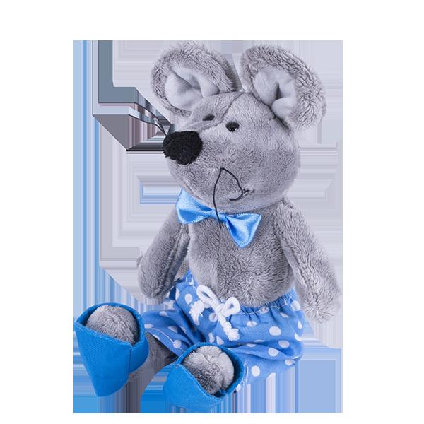 Мягкие игрушки SOFTOY — SOFTOY S884/15 Мягкая игрушка Мышка, 26см
