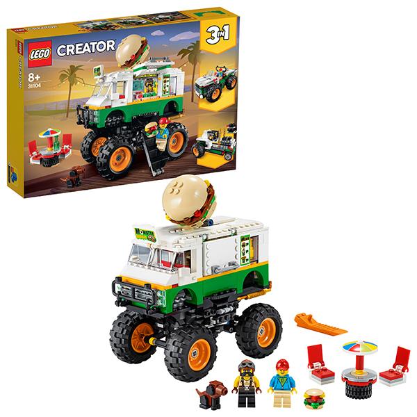 Конструкторы LEGO — LEGO Creator 31104 Конструктор ЛЕГО Криэйтор Грузовик Монстрбургер