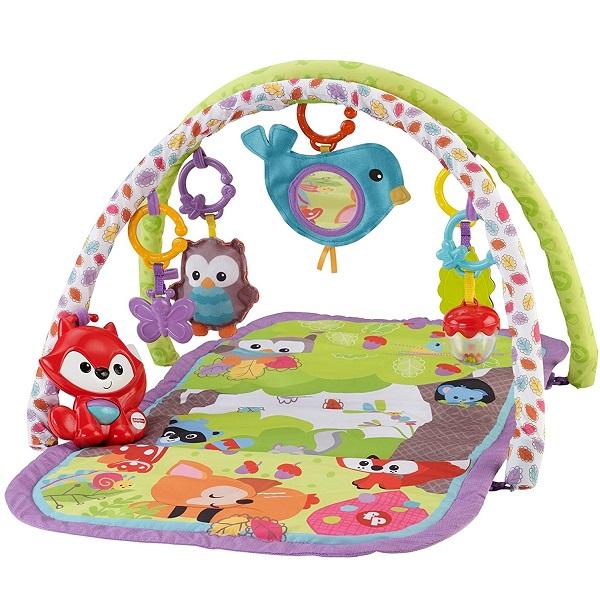Купить Mattel Fisher-Price CDN47 Фишер-Прайс Развивающий коврик 3-в-1 Друзья тропического леса , Развивающие игрушки для малышей Mattel Fisher-Price