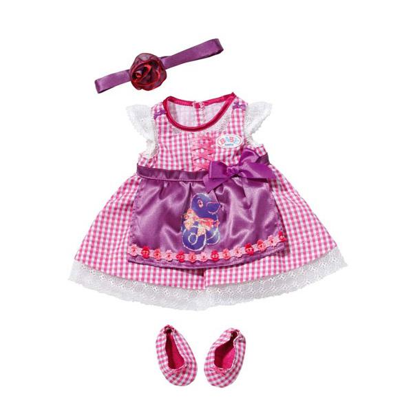 Zapf Creation Baby born 819-364 Бэби Борн Платье Красотка, пол.пакет с держателем