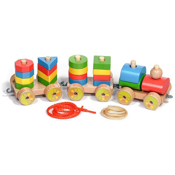 Купить Игрушки из дерева D163 Паровозик, Развивающие игрушки для малышей Игрушки из дерева