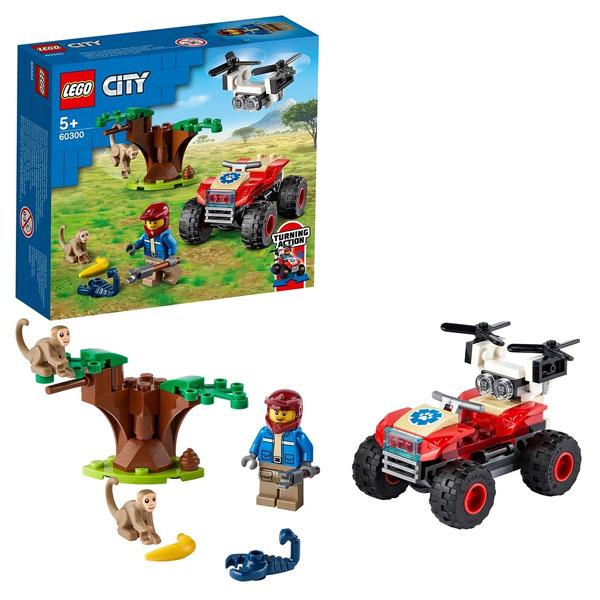 Купить LEGO City 60300 Конструктор ЛЕГО Город Wildlife: Спасательный вездеход для зверей, Конструктор LEGO
