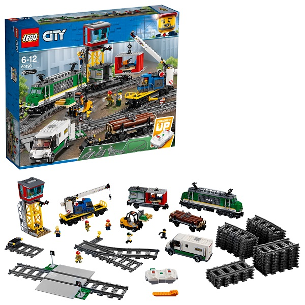 Купить LEGO City 60198 Конструктор ЛЕГО Город Товарный поезд, Конструкторы LEGO
