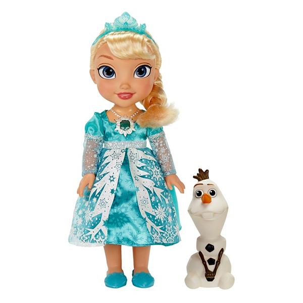 Disney Princess 310580 Принцессы Дисней Кукла Эльза Холодное Сердце функциональная, арт:100329 - Новый год с Рапунцель и Эльзой!, Куклы и аксессуары