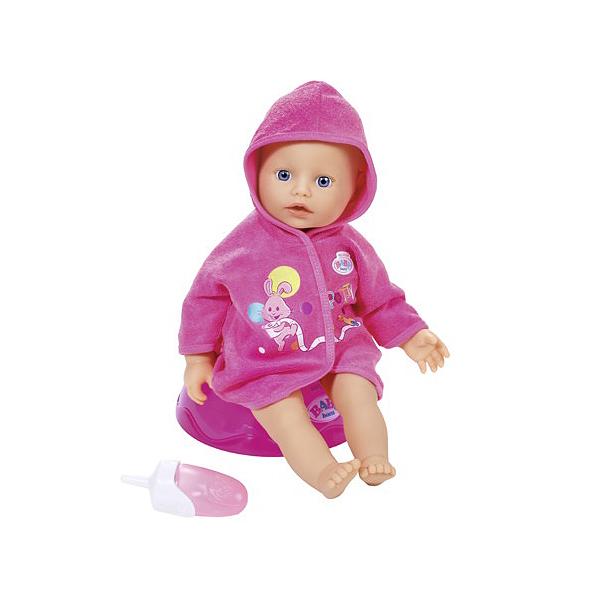 Купить Zapf Creation Baby born 823-460 Бэби Борн Кукла быстросохнущая с горшком и бутылочкой, 32 см, Кукла Zapf Creation