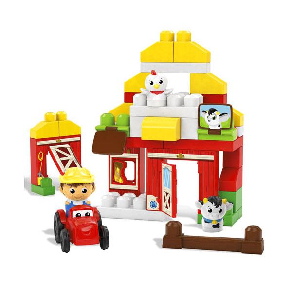 Mattel Mega Bloks DPJ57 Мега Блокс Конструктор Скотный двор
