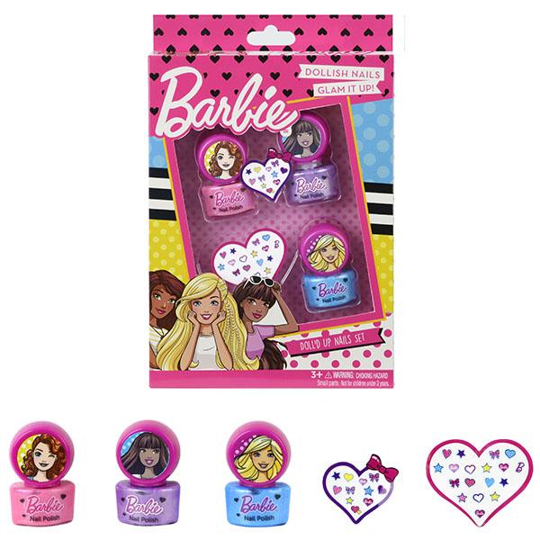 Купить Markwins 9708351 Barbie Игровой набор детской декоративной косметики для ногтей, Игровые наборы Markwins