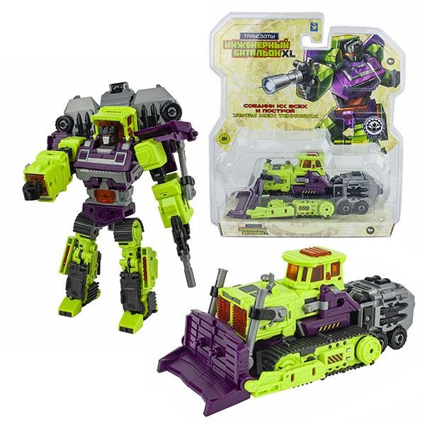 Купить 1toy T16431 Трансботы Инженерный батальон XL: Мега Дозербот , 19 см, Игрушечные роботы и трансформеры 1toy