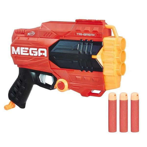 Купить Hasbro Nerf E0103 Нерф Мега Три-брейк, Игрушечное оружие и бластеры Hasbro Nerf