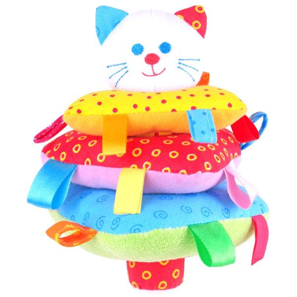 Купить Мякиши 321M Игрушка ШуМякиши (Пирамидка Котик), Развивающие игрушки для малышей Мякиши