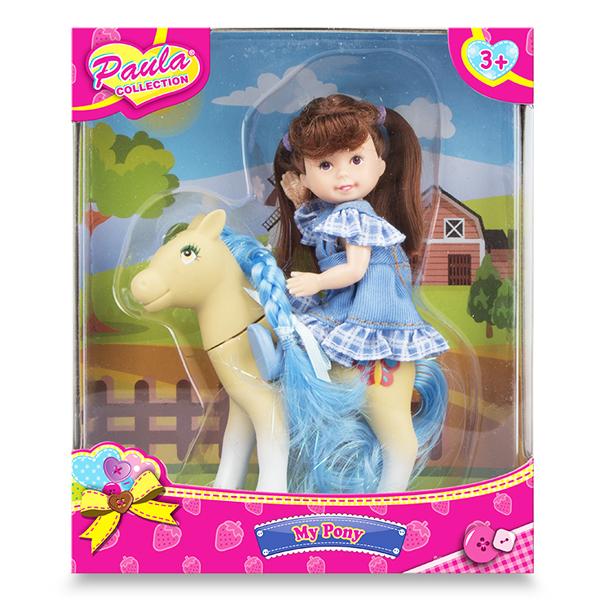 Купить Paula MC23034a Игровой набор Прогулка с пони брюнетка, Игровые наборы Paula