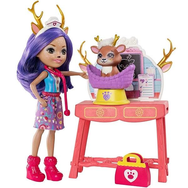 Купить Mattel Enchantimals GBX04 Кукла со зверушкой и тематическим набором, Игровые наборы и фигурки для детей Mattel Enchantimals