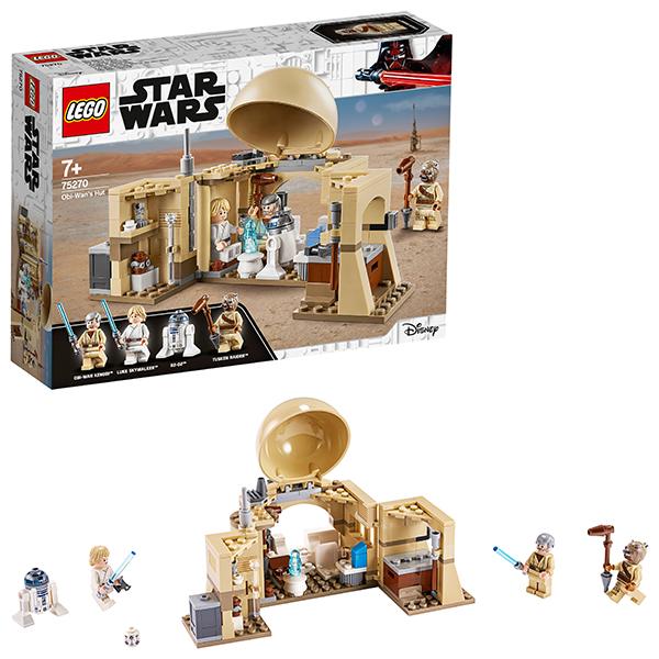 Купить LEGO Star Wars 75270 Конструктор ЛЕГО Звездные войны Хижина Оби-Вана Кеноби, Конструкторы LEGO
