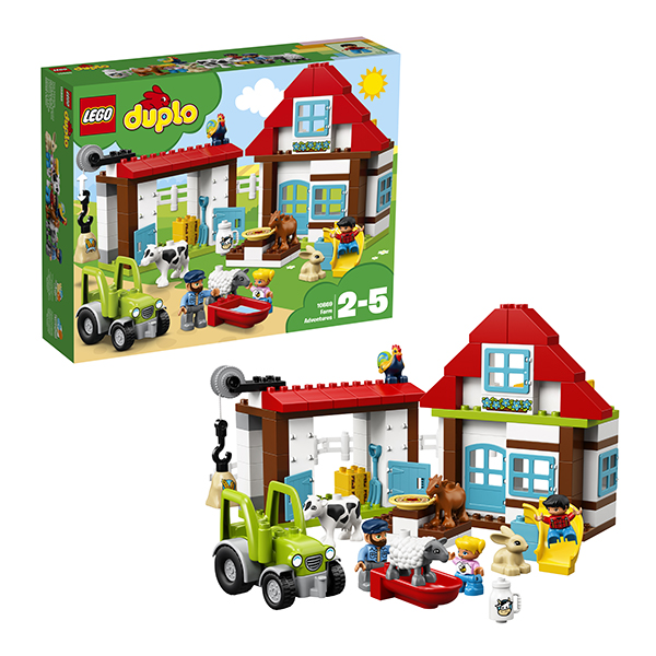 Купить LEGO DUPLO 10869 Конструктор ЛЕГО ДУПЛО День на ферме, Конструкторы LEGO