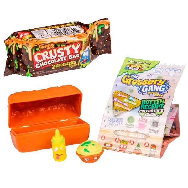 Купить Grossery Gang 69073 2 фигурки, упаковка в виде шоколадного батончика, Набор фигурок Mattel Hot Wheels