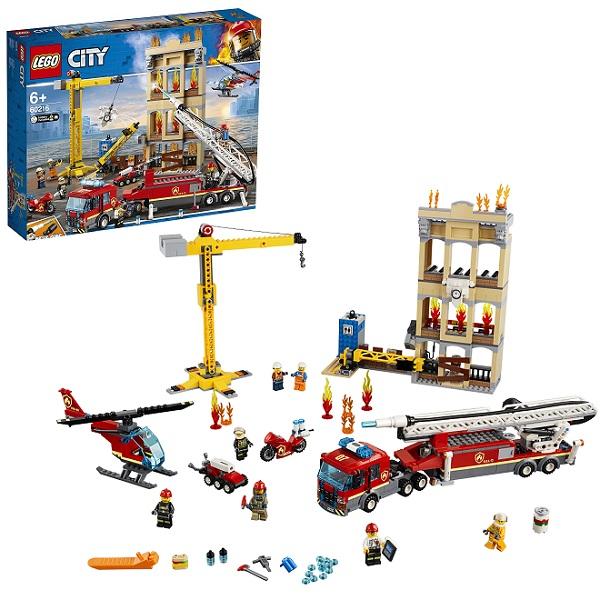 Купить LEGO City 60216 Конструктор ЛЕГО Город Пожарные: Центральная пожарная станция, Конструкторы LEGO