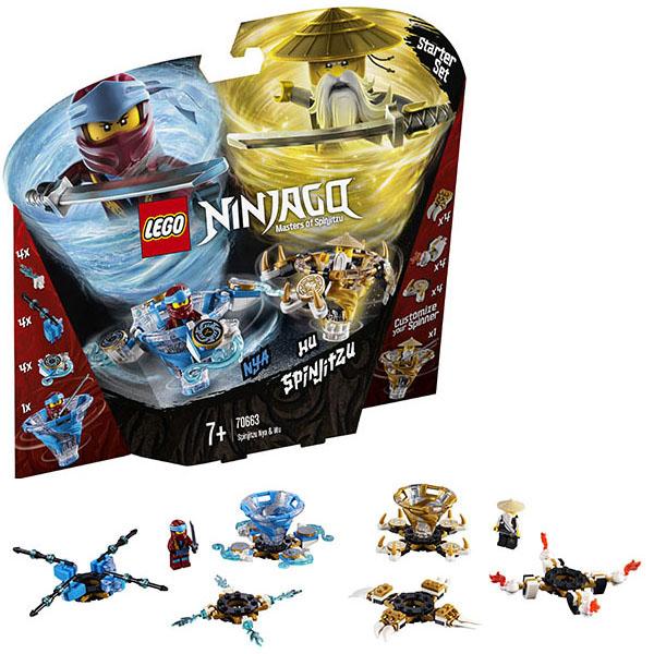 Купить LEGO Ninjago 70663 Конструктор ЛЕГО Ниндзяго Ния и Ву - мастер Кружитцу, Конструкторы LEGO