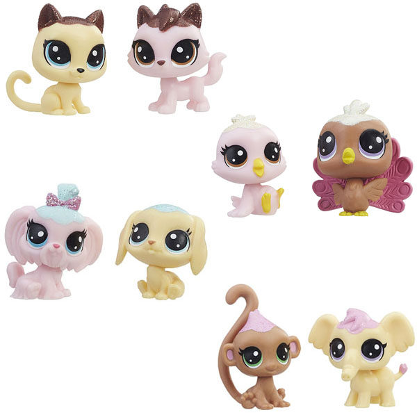 Купить Hasbro Littlest Pet Shop E0399 Литлс Пет Шоп Набор игрушек 2 Зефирных Пета, Игровой набор Hasbro Littlest Pet Shop