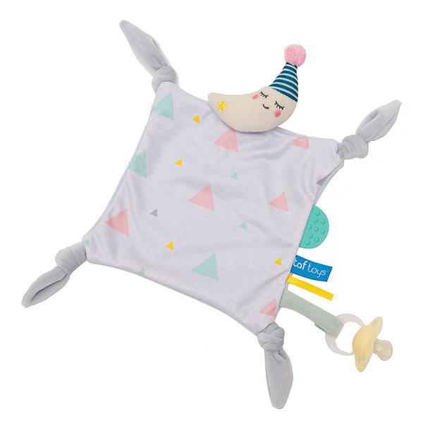 Купить Taf Toys 12115 Таф Тойс Платочек-прорезыватель Луна , Развивающие игрушки для малышей TAF TOYS