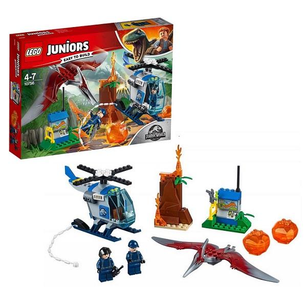 Купить LEGO Juniors 10756 Конструктор ЛЕГО Джуниорс Jurassic World Побег Птеранодона, Конструктор LEGO