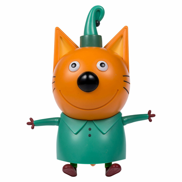 """Игровые наборы и фигурки для детей Три кота T16182 Фигурка """"Компот"""" 15 см, подвижные ножки, ручки, голова, со звуком фото"""