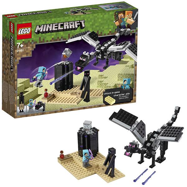 Купить LEGO Minecraft 21151 Конструктор ЛЕГО Майнкрафт Последняя битва, Конструктор LEGO