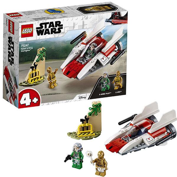 Купить LEGO Star Wars 75247 Конструктор ЛЕГО Звездные Войны Звёздный истребитель типа А, Конструктор LEGO
