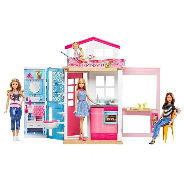 Купить Mattel Barbie DVV48 Барби Домик + кукла, Кукольный домик Mattel Barbie