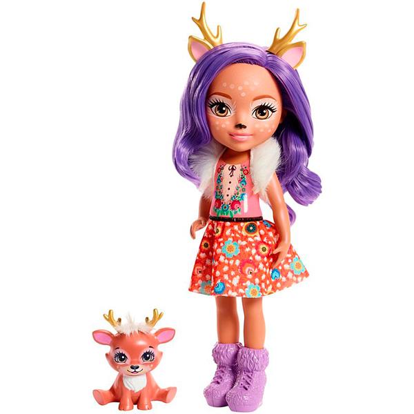 Mattel Enchantimals FRH54 Большая кукла с любимой зверюшкой - Куклы и аксессуары