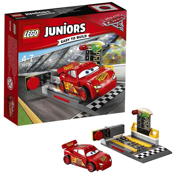 Lego Juniors 10730 Конструктор Лего Джуниорс Тачки Устройство для запуска Молнии МакКуина, арт:148584 - Джуниорс, Конструкторы LEGO