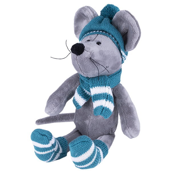 Купить SOFTOY S887/20 Мягкая игрушка Мышь в шапке, 36см, Мягкие игрушки SOFTOY
