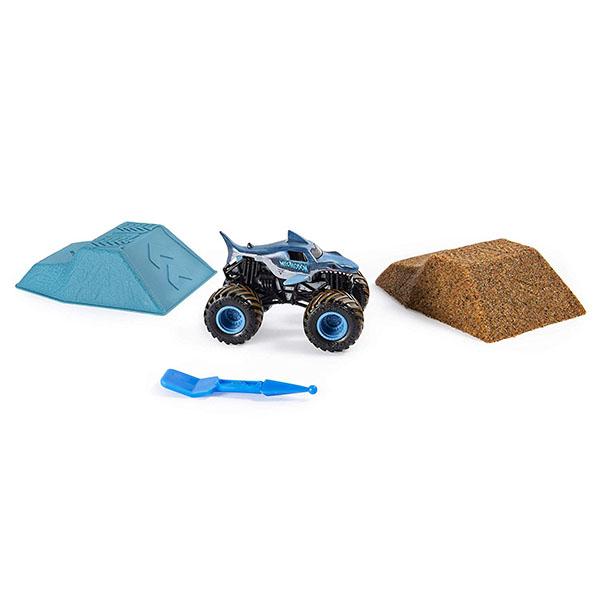 Игрушечные машинки и техника Monster Jam — Monster Jam 6053302 Монстр Джем набор машинка и песок 1