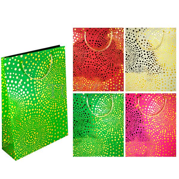 Пакет подарочный бумажный, Золотые точки TZ6405 (44*32*11 см)