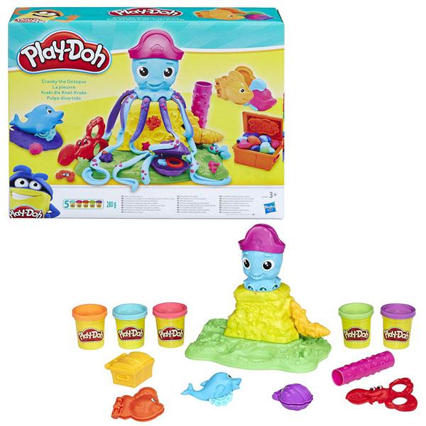 Купить Hasbro Play-Doh E0800 Игровой набор Веселый Осьминог, Пластилин Hasbro Play-Doh