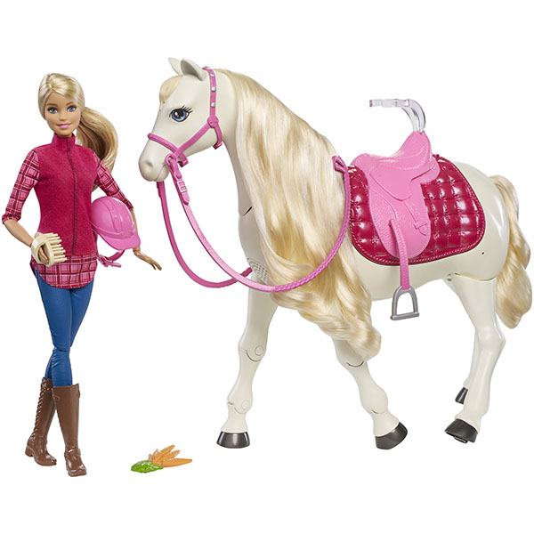 Купить Mattel Barbie FRV36 Барби Кукла и лошадь мечты, Игровые наборы и фигурки для детей Mattel Barbie