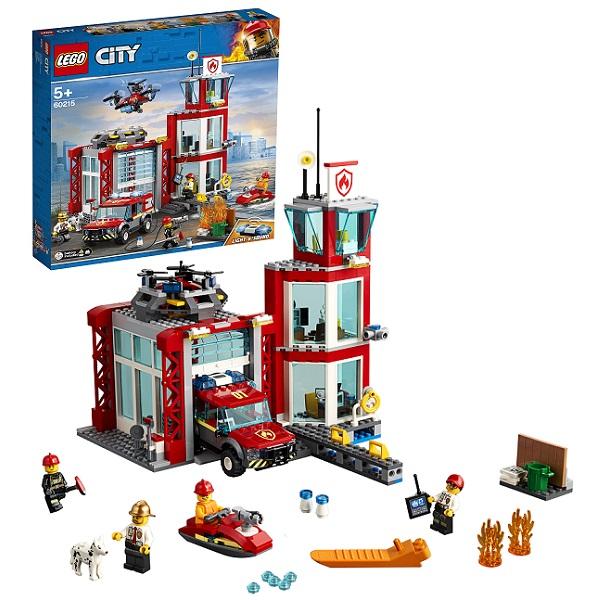 Купить LEGO City 60215 Конструктор ЛЕГО Город Пожарные: Пожарное депо, Конструкторы LEGO