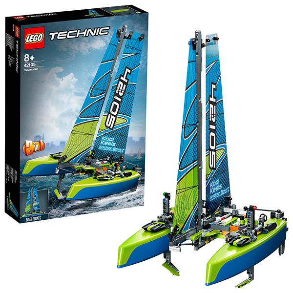 Купить LEGO Technic 42105 Конструктор ЛЕГО Техник Катамаран, Конструкторы LEGO