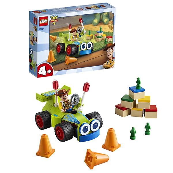Купить LEGO Juniors 10766 Конструктор Лего Джуниорс История игрушек-4: Вуди на машине, Конструкторы LEGO