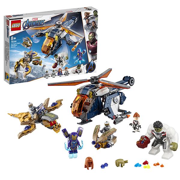 Купить LEGO Super Heroes 76144 Конструктор ЛЕГО Супер Герои Мстители: Спасение Халка на вертолёте, Конструкторы LEGO