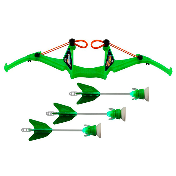 Игрушечное оружие Zing FT811 Зинг Игрушка Лук с подсветкой средний 3 стрелы, в ассортименте