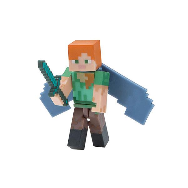 Купить Minecraft 16492 Майнкрафт фигурка Alex with Elytra Wings, Минифигурка Minecraft