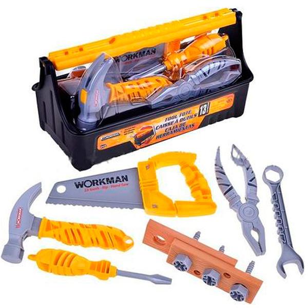 Купить Lanard 50336 Набор инструментов в корзине (13 штук), Игровые наборы и фигурки для детей Lanard