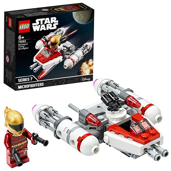 Купить LEGO Star Wars 75263 Конструктор ЛЕГО Звездные войны Микрофайтеры: Истребитель Сопротивления типа Y, Конструкторы LEGO