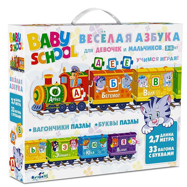 Купить Origami AST190379 Для Малышей Настольная игра Паровозик Веселая Азбука, Настольные игры Оригами